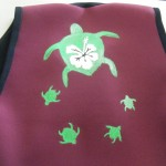 Vest with hand painted Turtles
