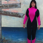 Pink and Black Custom Wetsuit