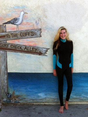 Custom Design Wetsuit Black with Turquoise highlights